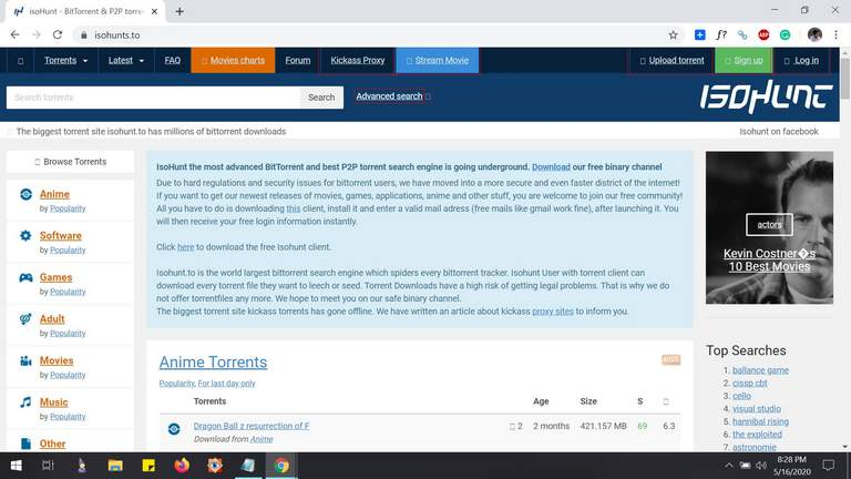 isohunt torrent site