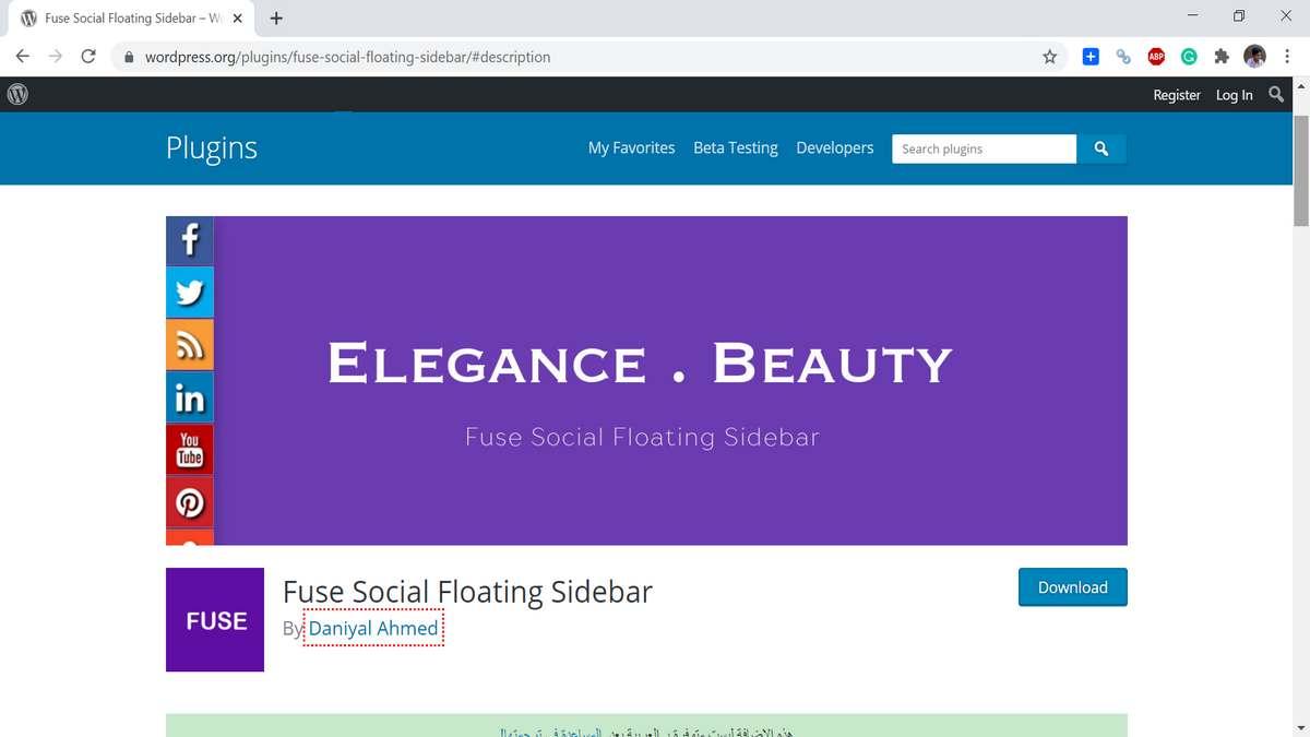 Floating Social Bar Plugin for WordPress