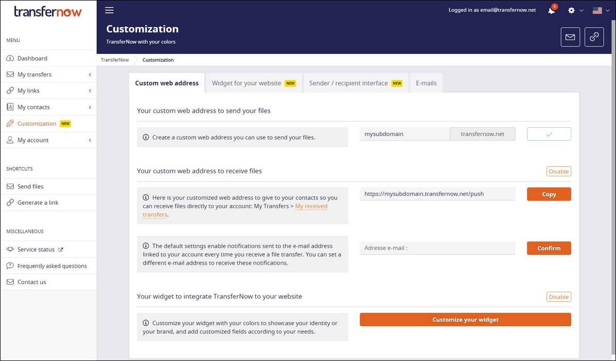 TransferNow file transfer online wetransfer-alternative