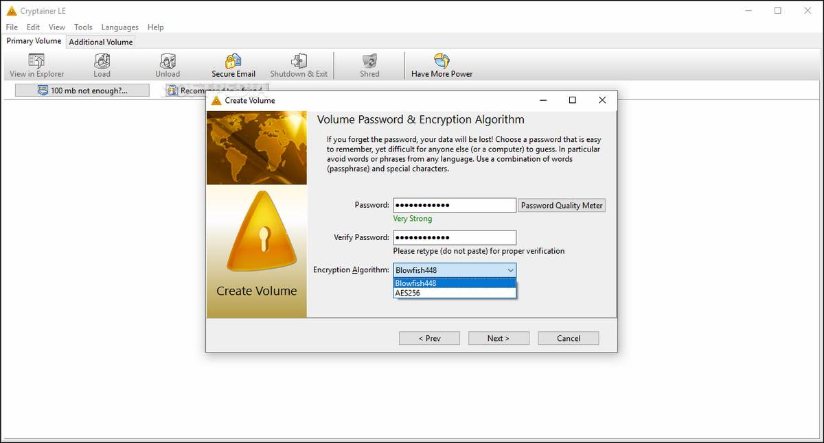 Cryptainer - Best TrueCrypt Alternatives