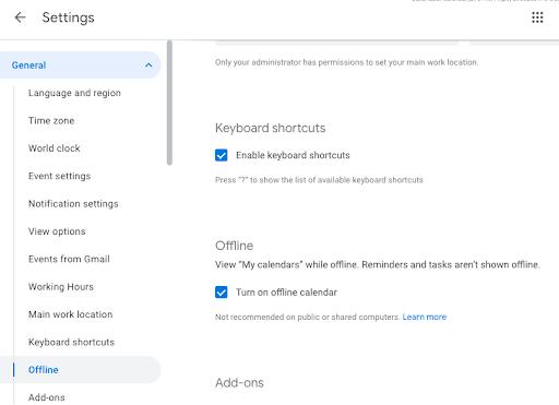 Google Calendar en la Web obtiene soporte sin conexión. Aplicaciones Android