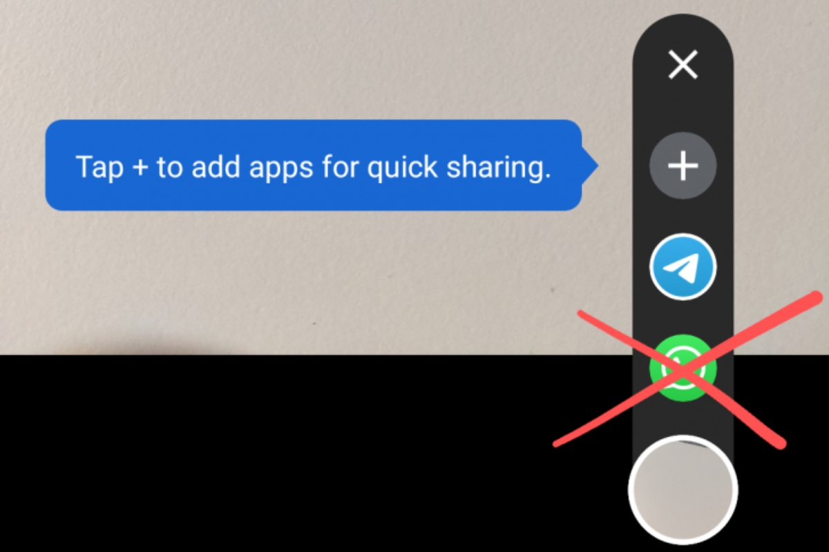 WhatsApp shortcuts to share on social networks from Google Camera 2021 are back