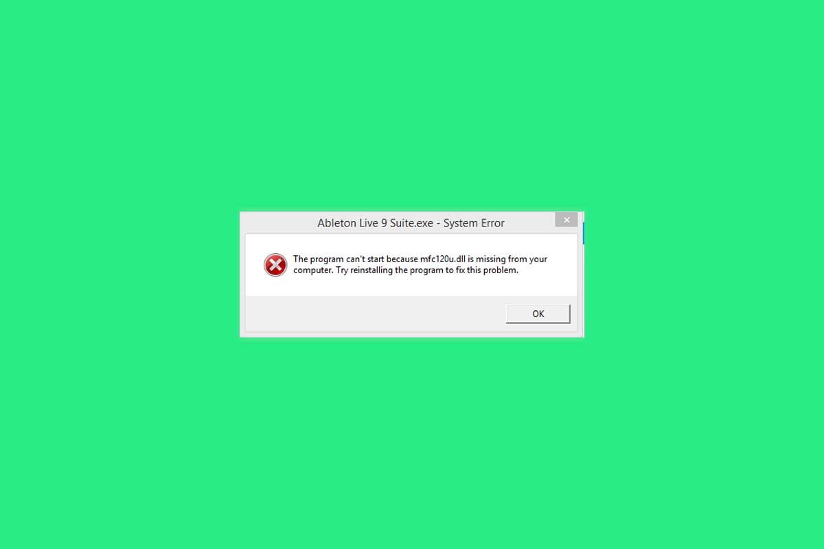SOLUTION MFC120u.dll is missing error in Windows [2021]