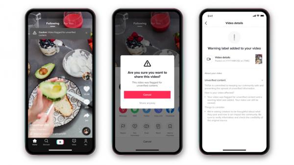 Disponible nueva función de información no verificada de TikTok. Aplicaciones Android