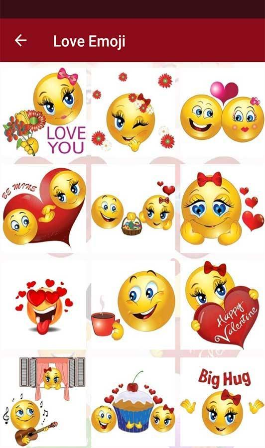 Resultado de imagen de Valentine Love Emojis app android