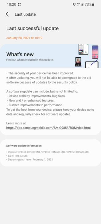 Samsung lanza el parche de seguridad de febrero al Galaxy S9 fuera de EE. UU.. Aplicaciones Android