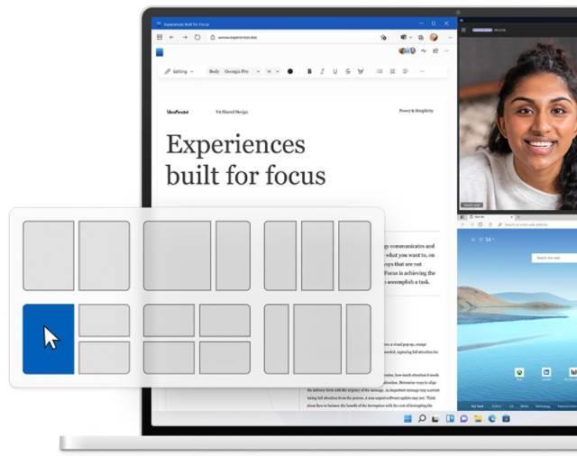 Snaps in Windows 11