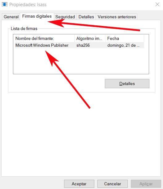 Microsoft Windows Publisher Lsass.exe