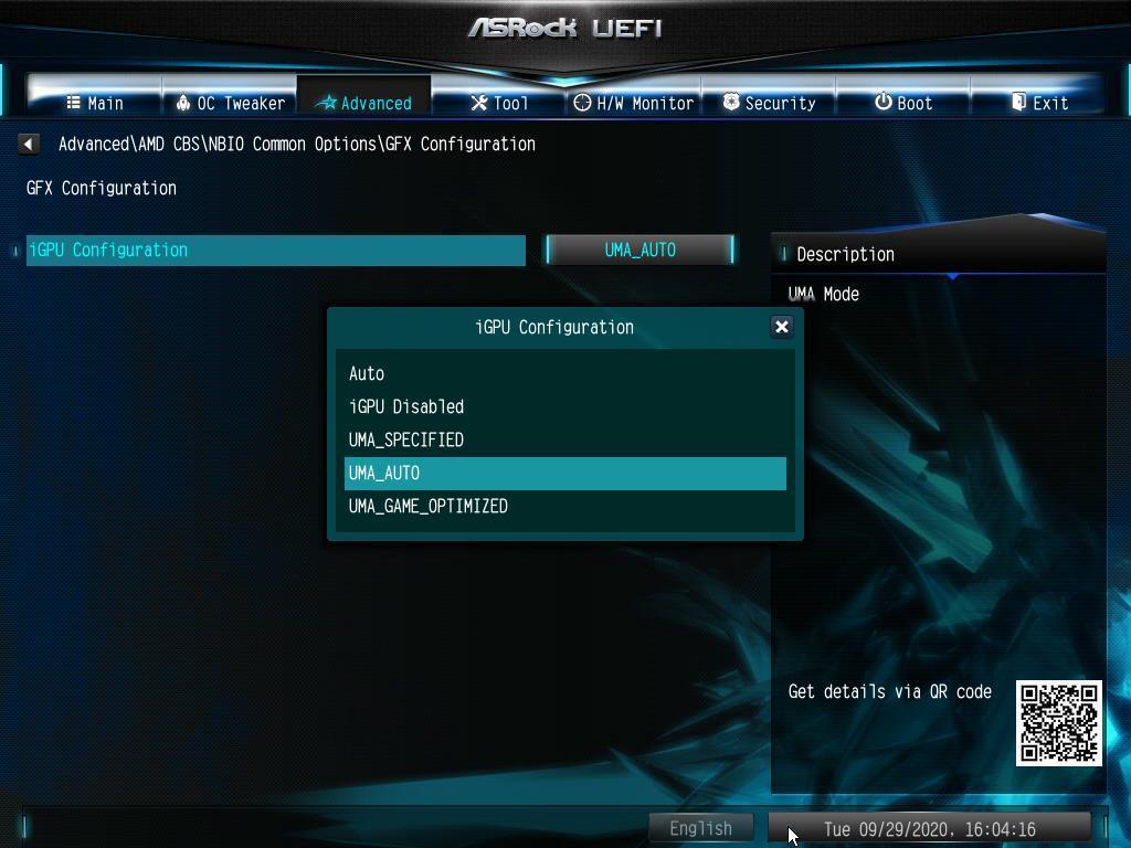 Disable iGPU ASRock AMD