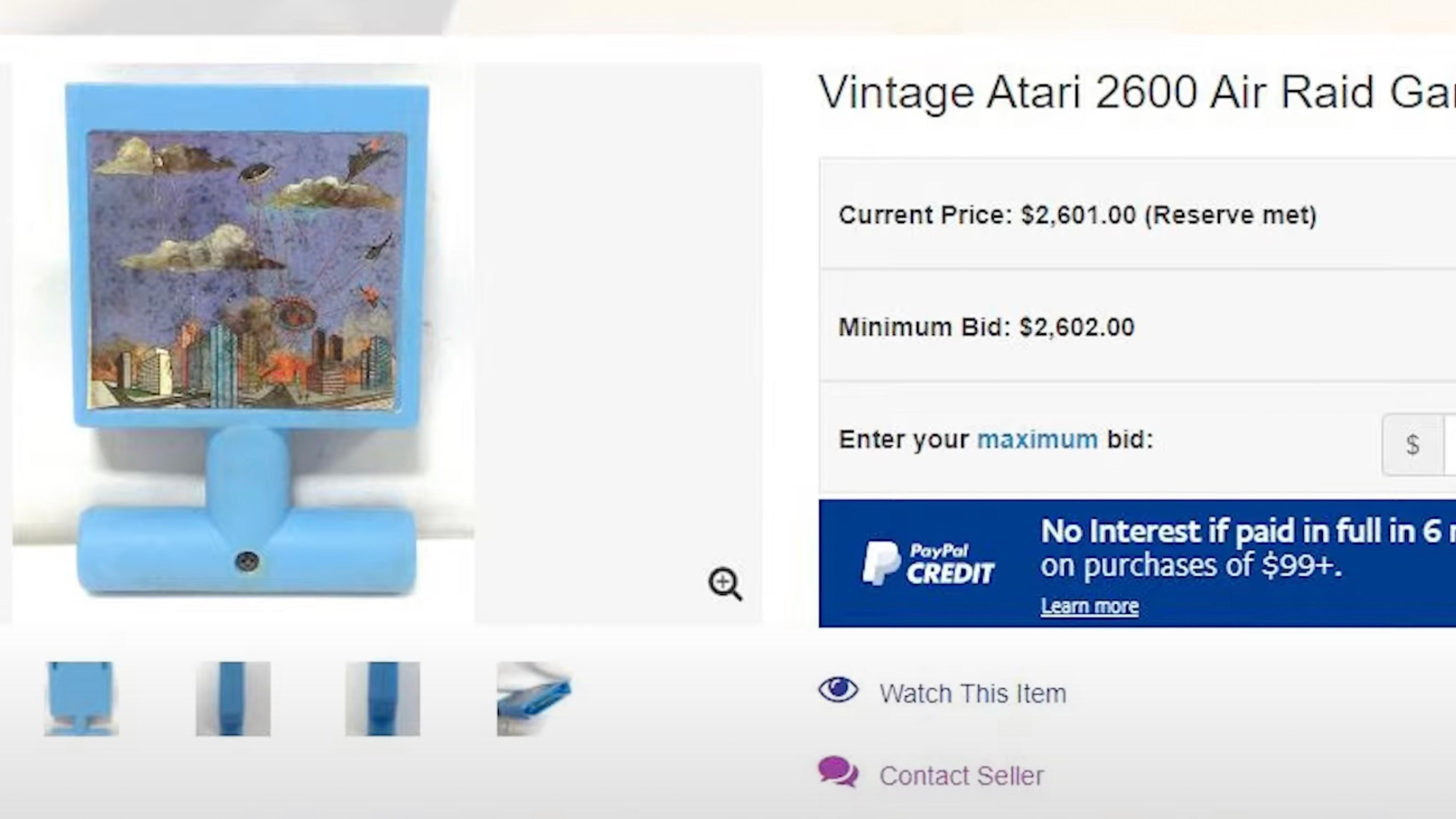 Atari Air Raid auction