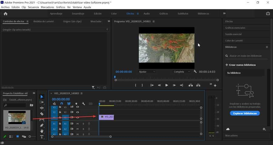 Adobe Premiere Pro add imported video to timeline