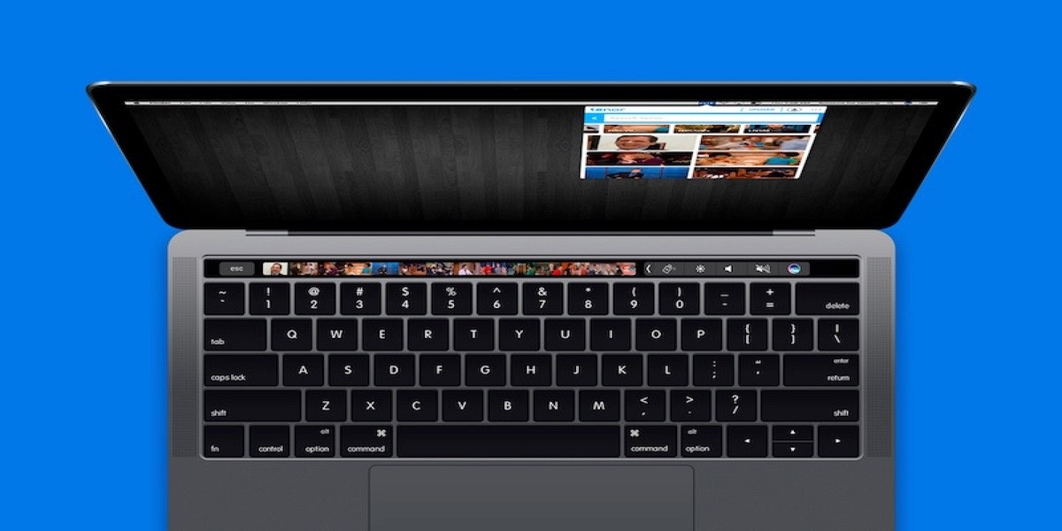 Touch Bar on the customizable MacBook Pro