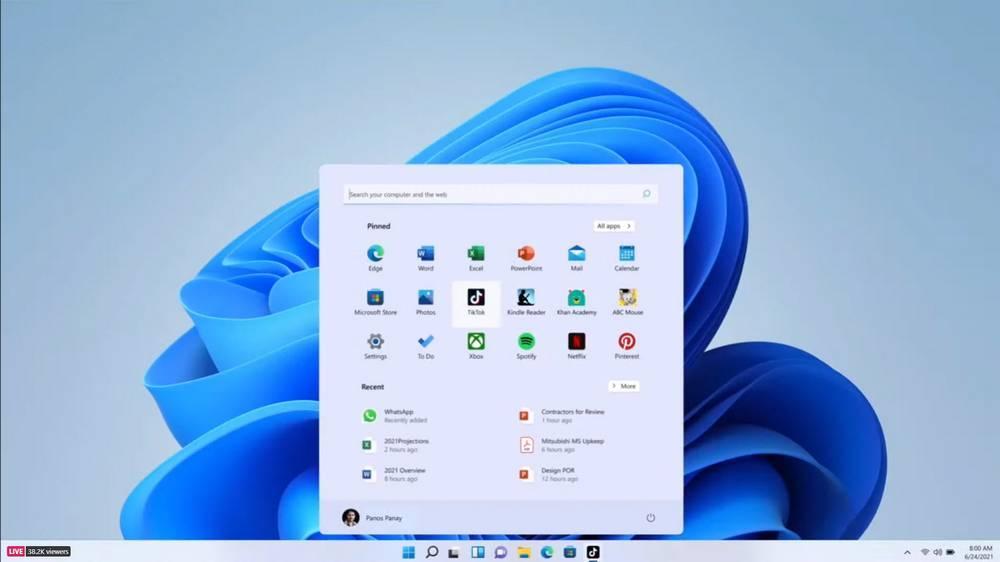 Windows 11 with TikTok