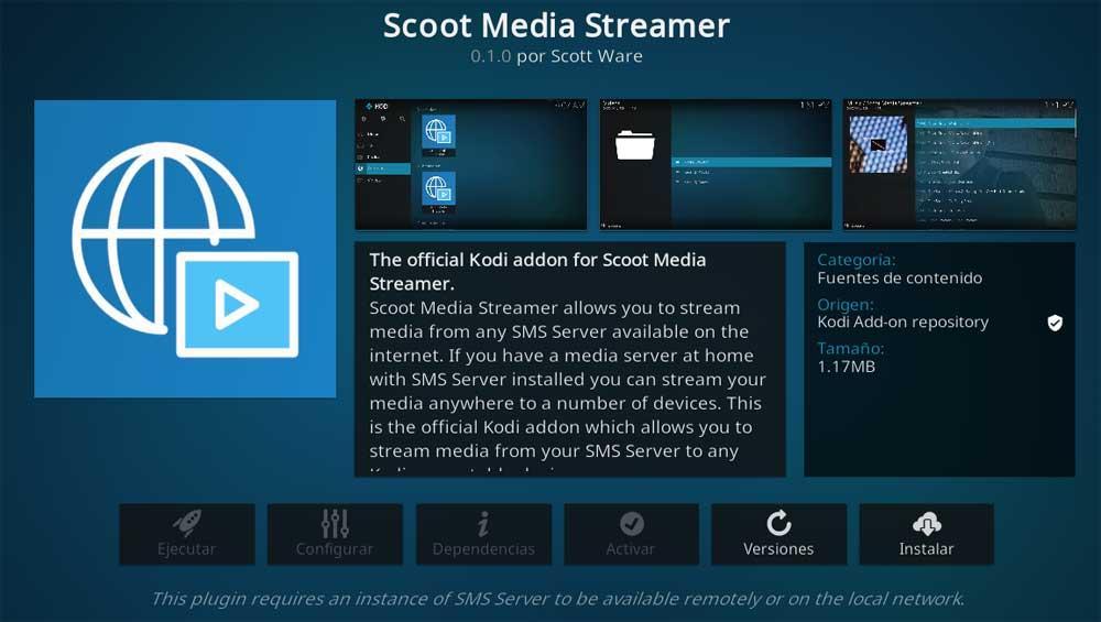 Scoot Media Streamer Kodi add-ons