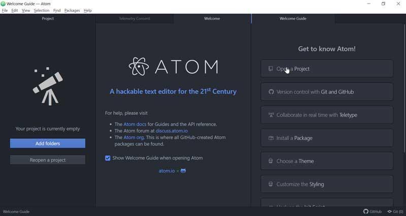 Atom interface