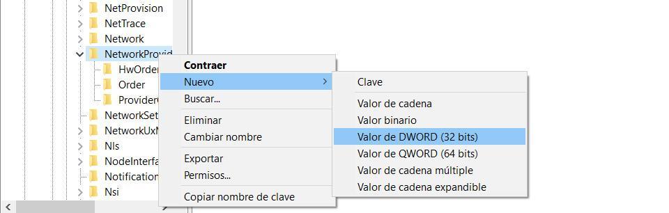DWORD value
