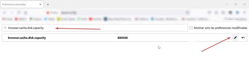 Firefox increase cache capacity