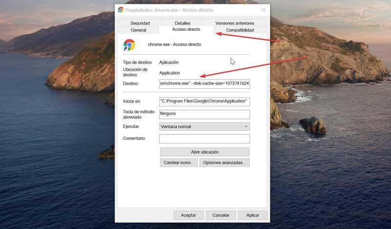Chrome Shortcut and Destination