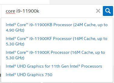 Find Intel Ark processor