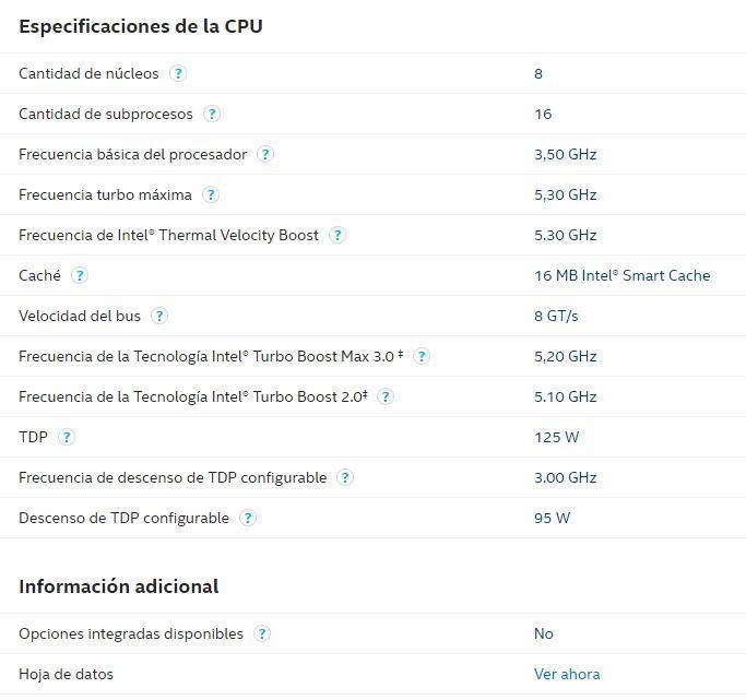 Intel Ark Specifications