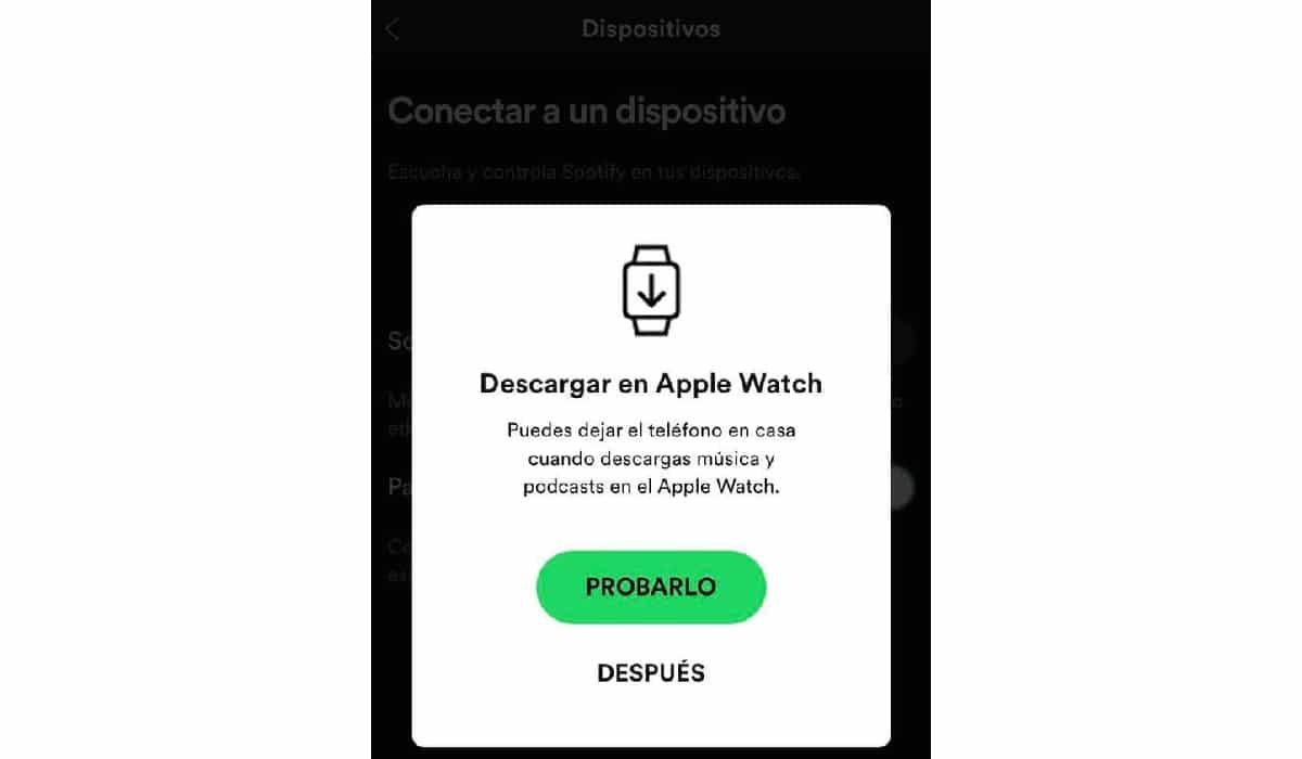 Download Spotify songs on Apple Watch