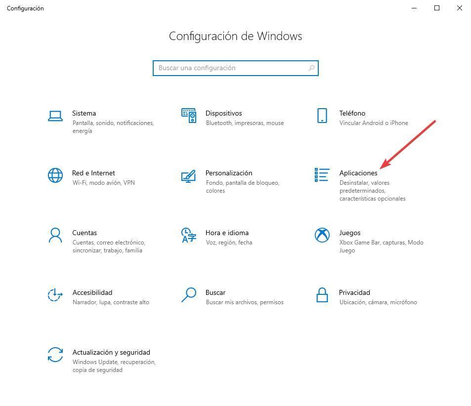 Configuration Applications W10