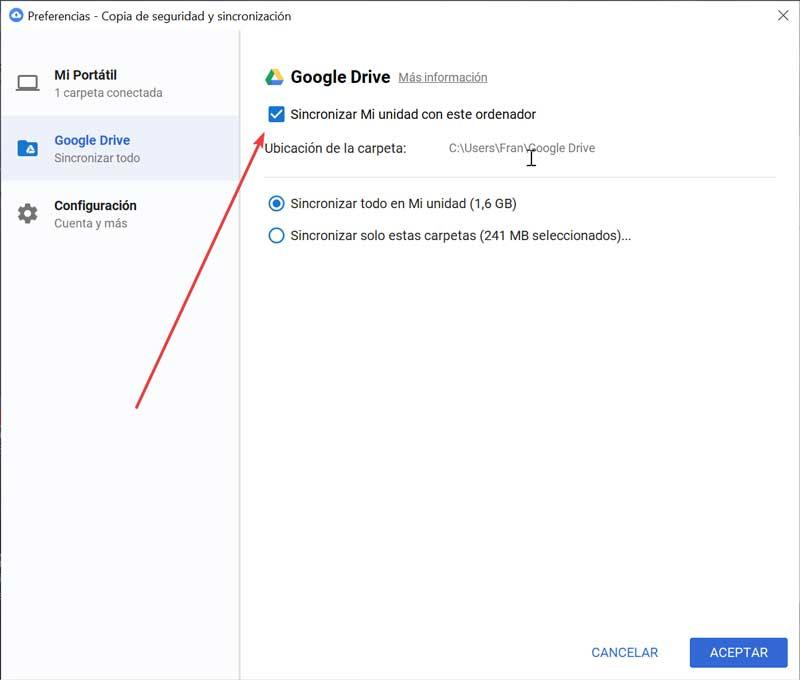 Google Drive Synchronize My Drive with this computer