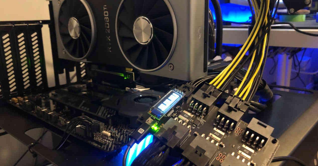 RTX 2000 GPU mounted