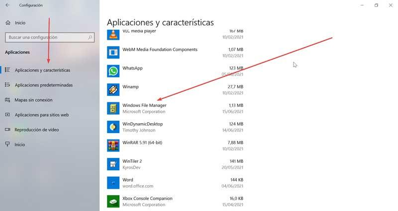 Uninstall Windows File Manager