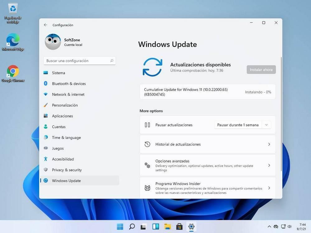 Update Windows 11 Build 22000.65