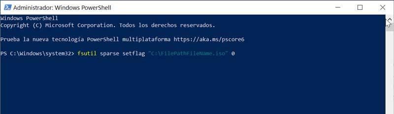 PowerShell remove pointer from ISO file