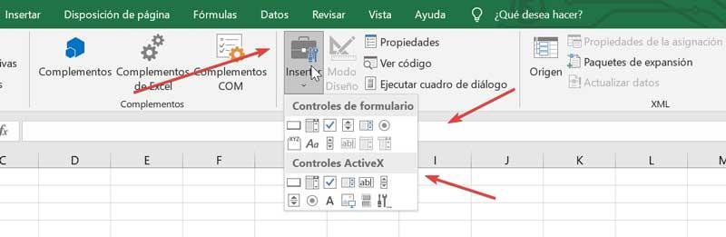 Excel form controls and ActiveX controls