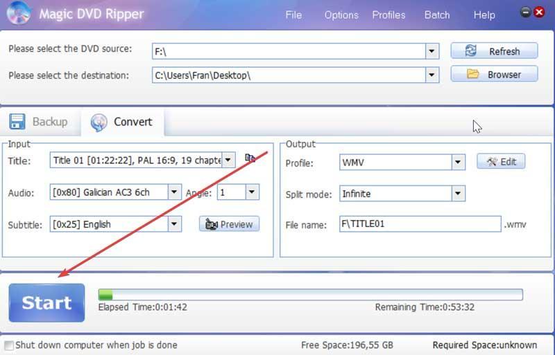 Magic DVD Ripper Start