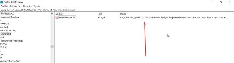 Command value data registry editor