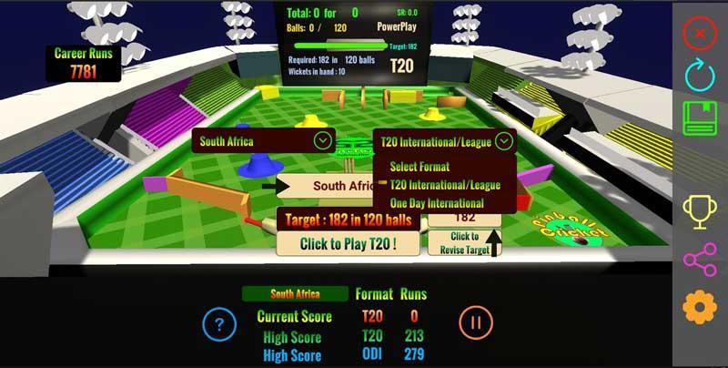 Cricket Twenty20 Pinball Challenge