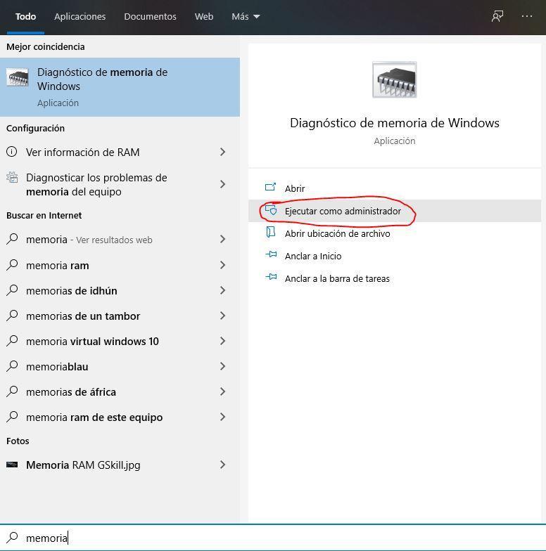 Windows RAM diagnostic