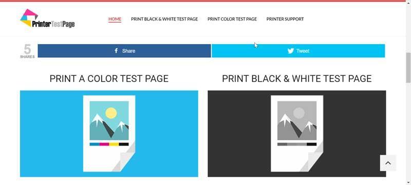 Printer Test Page web