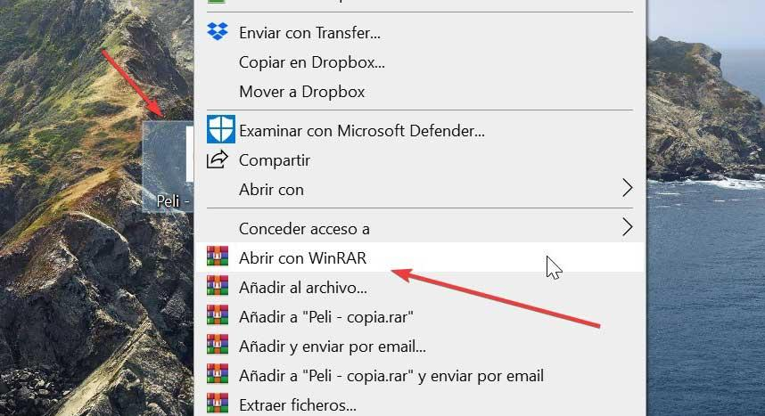 Open ISO file with WinRAR