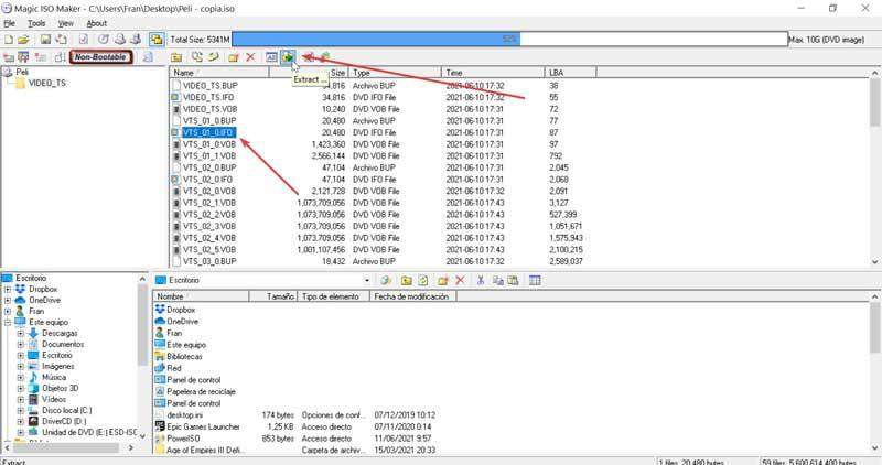 MagicISO extract files from ISO image