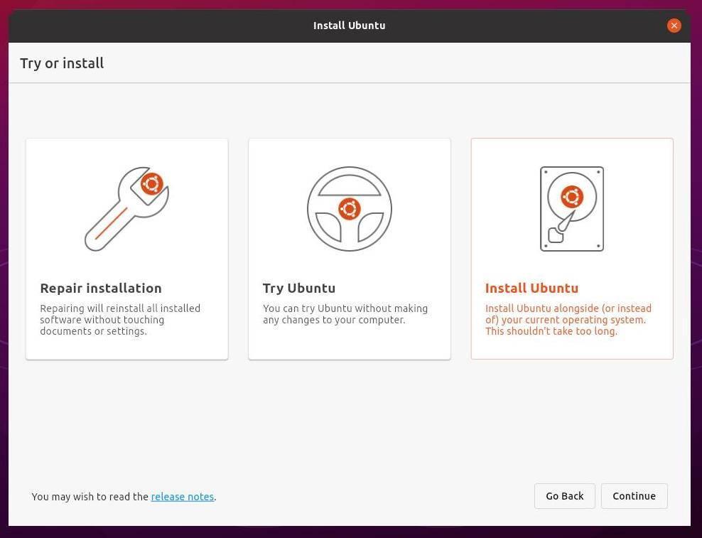 New Ubuntu 21.10 installer