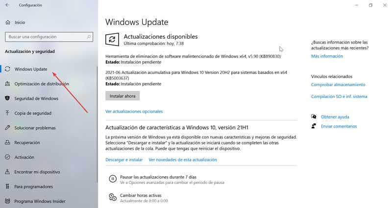 Settings and Windows Update