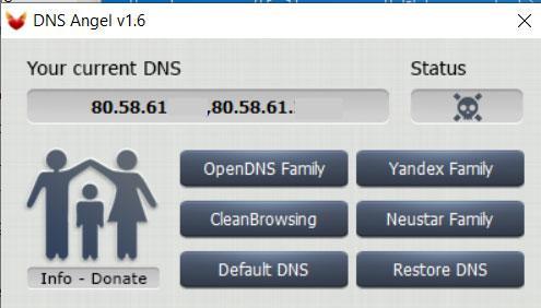 DNS Angel parental control