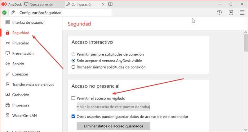 AnyDesk create password