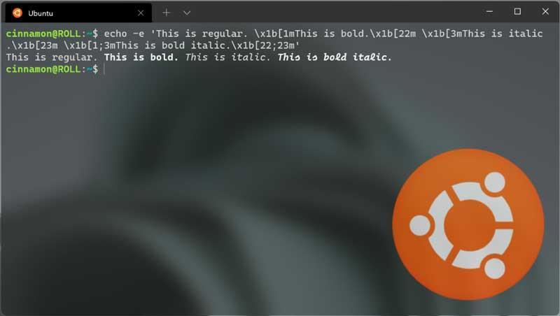 Windows Terminal Preview 1.10 bold text