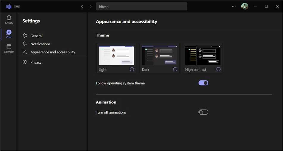 Microsoft Teams 2.0 Settings