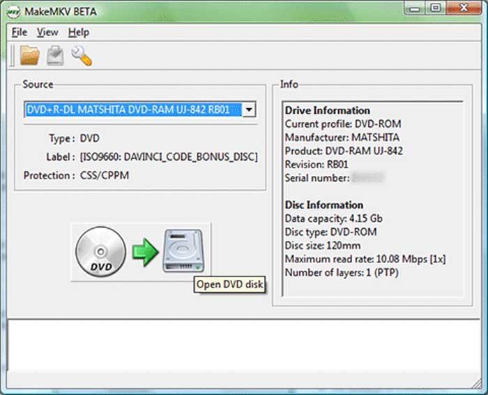 MakeMKV dvd and blu-ray converter