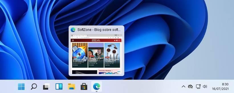Windows 11 build 22000.71 - round thumbnails