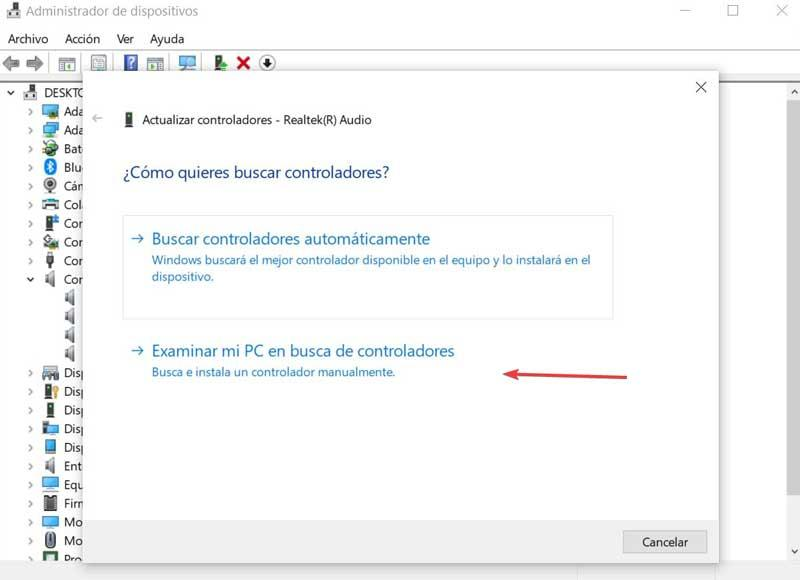 Realtek Browse my PC for drivers