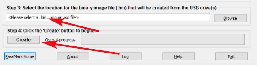 start image process USB memory