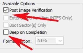 verification option